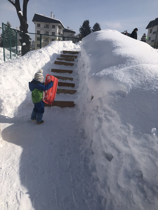ゆきの滑り台の写真