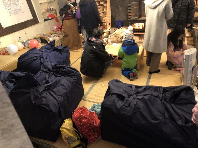 宿泊用の布団