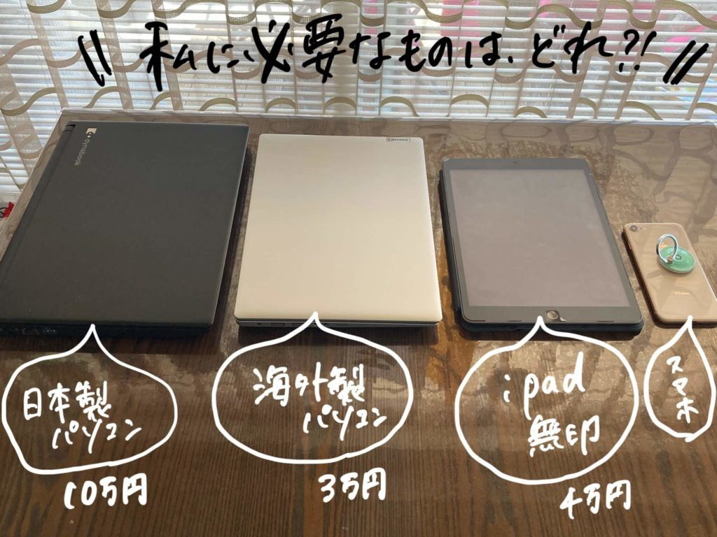 パソコンの種類の写真